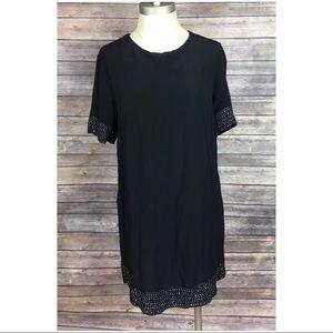 H&M Dress Black Rhinestone Career Cocktail Size 10